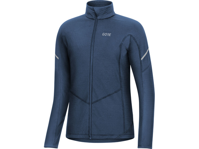 GORE WEAR M Thermo Langarm Zip Shirt Damen deep water blue
